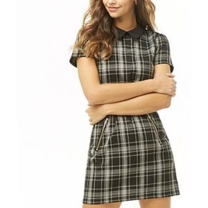 Forever 21 Plaid Collared Mini Dress